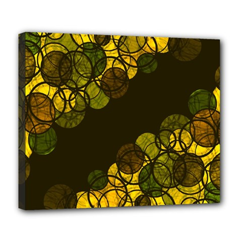 Yellow Bubbles Deluxe Canvas 24  X 20   by Valentinaart