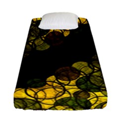 Yellow Bubbles Fitted Sheet (single Size) by Valentinaart