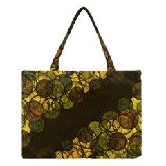 Yellow Bubbles Medium Tote Bag by Valentinaart