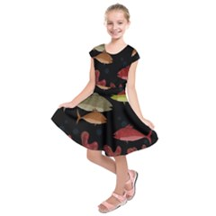 Corals Kids  Short Sleeve Dress by Valentinaart