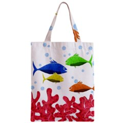 Corals And Fish Zipper Classic Tote Bag by Valentinaart