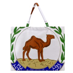 National Emblem Of Eritrea  Zipper Large Tote Bag by abbeyz71