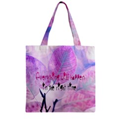 Magic Leaves Zipper Grocery Tote Bag by Brittlevirginclothing