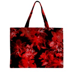 Red Flower  Zipper Mini Tote Bag by Brittlevirginclothing