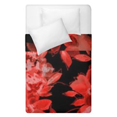 Red Flower  Duvet Cover Double Side (single Size) by Brittlevirginclothing