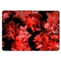 red flower  Samsung Galaxy Tab 8.9  P7300 Flip Case View1