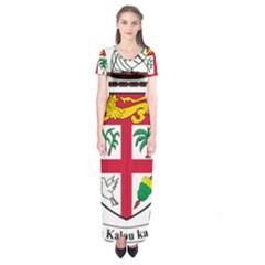 Coat of Arms of Fiji Short Sleeve Maxi Dress by abbeyz71