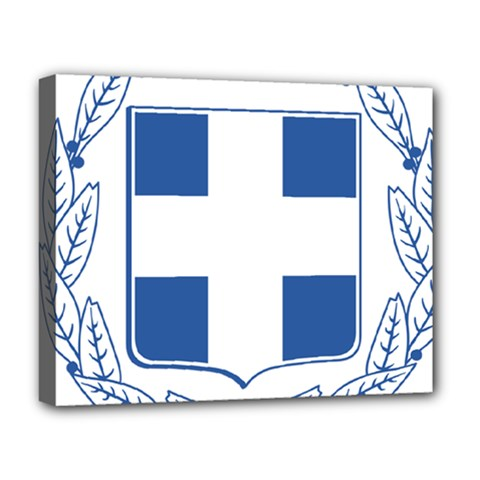 Coat Of Arms Of Greece Deluxe Canvas 20  X 16   by abbeyz71
