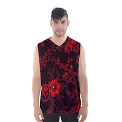 Small Red Roses Men s Basketball Tank Top by Brittlevirginclothing