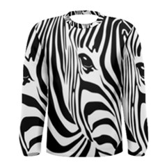 Animal Cute Pattern Art Zebra Men s Long Sleeve Tee