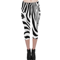 Animal Cute Pattern Art Zebra Capri Leggings