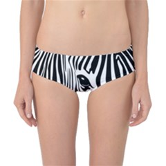 Animal Cute Pattern Art Zebra Classic Bikini Bottoms