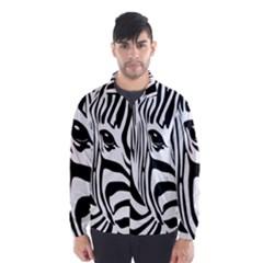 Animal Cute Pattern Art Zebra Wind Breaker (men)