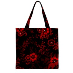 Small Red Roses Grocery Tote Bag by Brittlevirginclothing