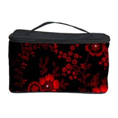 Small Red Roses Cosmetic Storage Case by Brittlevirginclothing