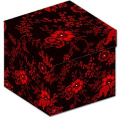 Small Red Roses Storage Stool 12   by Brittlevirginclothing