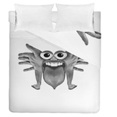 Body Part Monster Illustration Duvet Cover Double Side (queen Size) by dflcprints