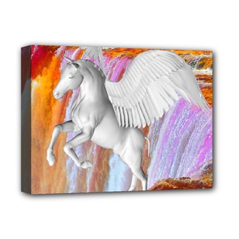 Pegasus Deluxe Canvas 16  X 12   by icarusismartdesigns