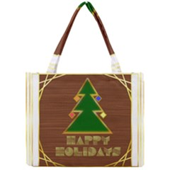 Art Deco Holiday Card Mini Tote Bag