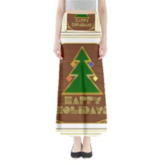 Art Deco Holiday Card Maxi Skirts