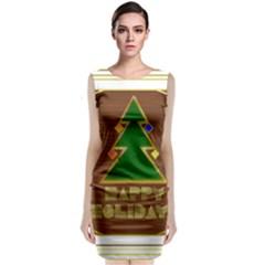 Art Deco Holiday Card Classic Sleeveless Midi Dress by Amaryn4rt