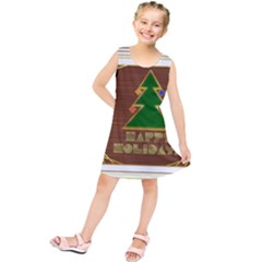 Art Deco Holiday Card Kids  Tunic Dress