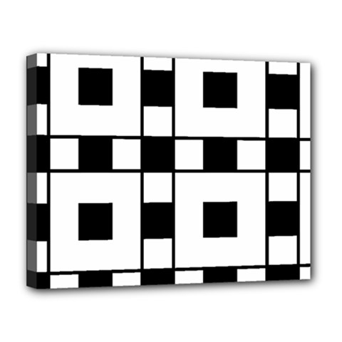 Black And White Pattern Canvas 14  X 11  by Amaryn4rt