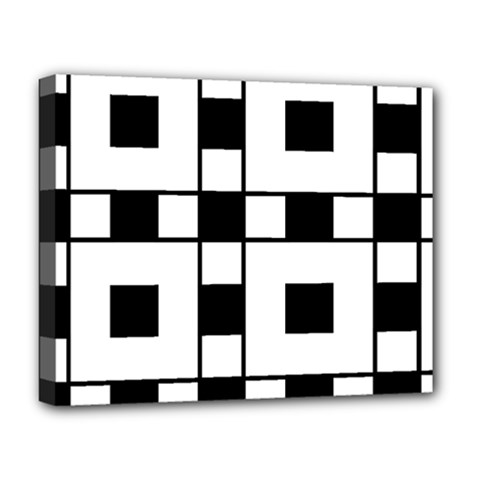 Black And White Pattern Deluxe Canvas 20  X 16