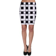 Black And White Pattern Bodycon Skirt