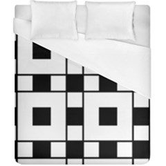 Black And White Pattern Duvet Cover (california King Size)