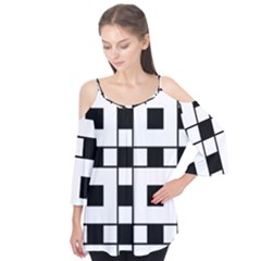 Black And White Pattern Flutter Tees by Amaryn4rt