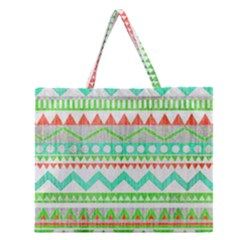 Cute Bohemian  Zipper Large Tote Bag by Brittlevirginclothing