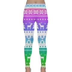 Cute Rainbow Bohemian Classic Yoga Leggings by Brittlevirginclothing