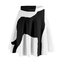 Great Dane Silo Black High Waist Skirt by TailWags
