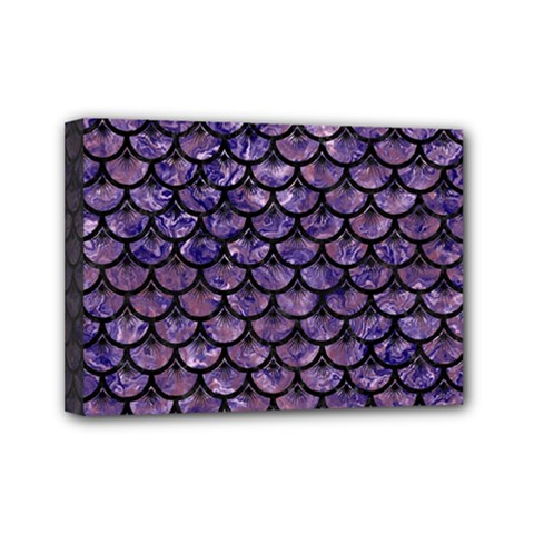 Scales3 Black Marble & Purple Marble (r) Mini Canvas 7  X 5  (stretched) by trendistuff