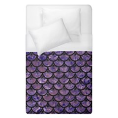 Scales3 Black Marble & Purple Marble (r) Duvet Cover (single Size)