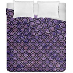 Scales2 Black Marble & Purple Marble (r) Duvet Cover Double Side (california King Size) by trendistuff