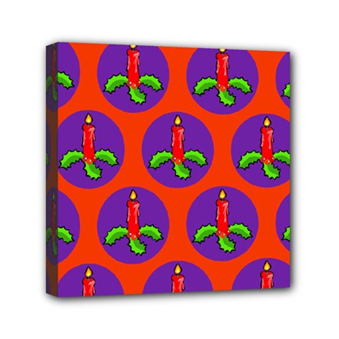 Christmas Candles Seamless Pattern Mini Canvas 6  X 6