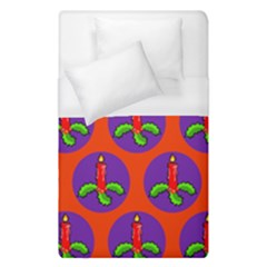 Christmas Candles Seamless Pattern Duvet Cover (single Size)