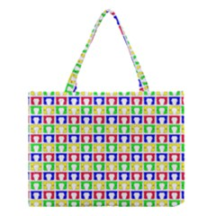 Colorful Curtains Seamless Pattern Medium Tote Bag