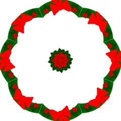 Holiday Wreath Folding Umbrellas