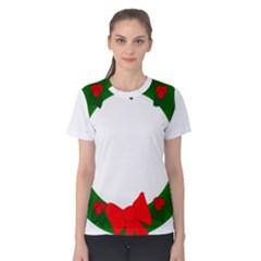 Holiday Wreath Women s Cotton Tee