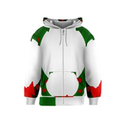 Holiday Wreath Kids  Zipper Hoodie