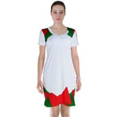 Holiday Wreath Short Sleeve Nightdress