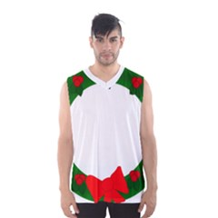 Holiday Wreath Men s Basketball Tank Top