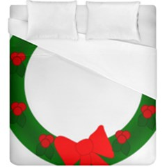Holiday Wreath Duvet Cover (king Size)