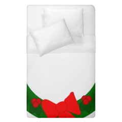 Holiday Wreath Duvet Cover (single Size)