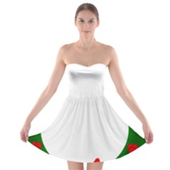 Holiday Wreath Strapless Bra Top Dress