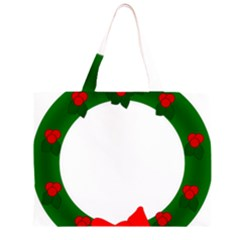 Holiday Wreath Zipper Large Tote Bag