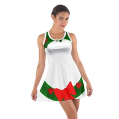 Holiday Wreath Cotton Racerback Dress